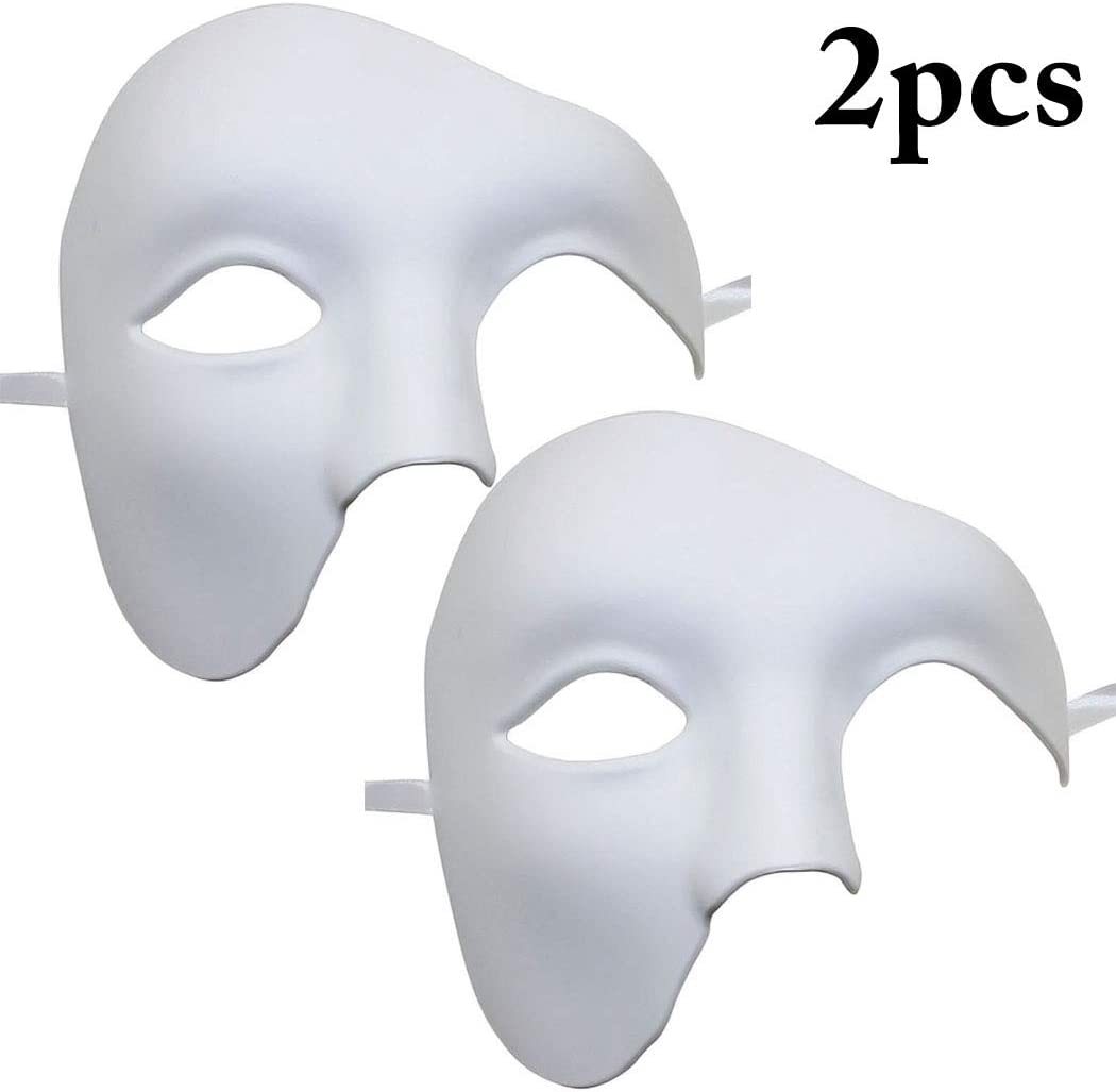 Mens phantom half face Mask kapmore opera ball Christmas Party Phantom Halloween