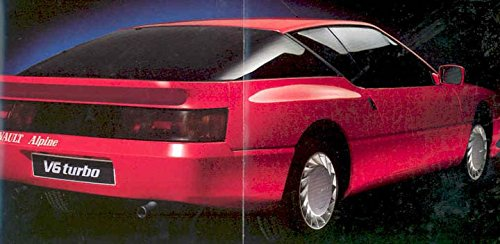 Amazon.com: 1986 Renault Alpine V6 & Turbo Sales Brochure French: Entertainment Collectibles