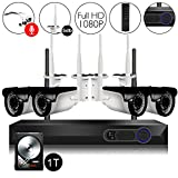 CAMVIEW Wireless Security Camera System 4pcs 1080P(2.0MP) WiFi CCTV IP Camera + 4CH HDMI NVR Home Video Surveillance System, Microphone Plug, Night Vision, Motion Detection, 1TB HDD Pre-installed Review