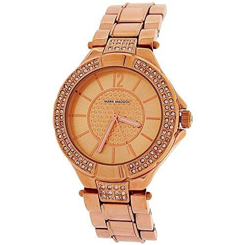 Mark Maddox Ladies Rhinestone Set Bezel Bracelet Strap Watch MM3008-95