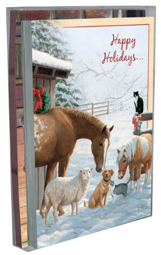 Tree-Free Greetings Home for the Holidays Holiday Boxed Cards, 5 x 7 Inches, 12 Cards and Envelopes per Set, Multi-Color (91174)