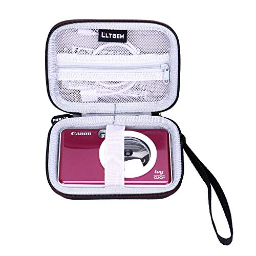LTGEM EVA Hard Case for Canon Ivy CLIQ or CLIQ+ Instant Camera Printer - Travel Protective Carrying Storage Bag