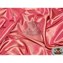 "Taffeta Solid Fabric CORAL / 58"" Wide / Sold by the yard"
