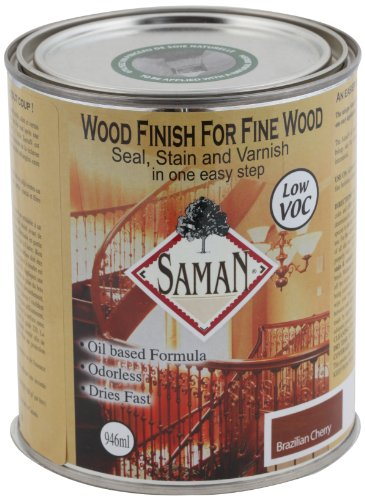 SamaN SAM-306-1L 1-Quart Interior Stain for Fine Wood for Seal, Stain and Varnish, Brazilian Cherry