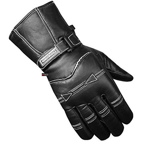 Leather Biker Gauntlets - 8