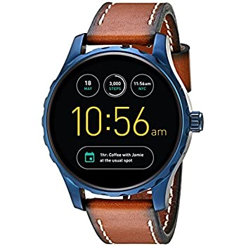eff9d33327d8 Amazon.com  Fossil Q Marshal Gen 2 Touchscreen Brown Leather ...