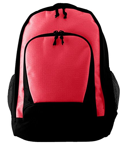 Augusta Sportswear Ripstop Backpack, One Size, Red/Black