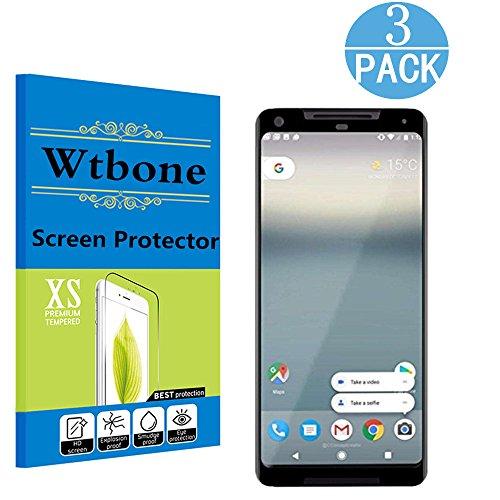Black - Google Pixel 2 XL PET Screen Protector , Wtbone -[3D Coverage] [No Bubble] HD Screen Protector Film for Google Pixel2 XL - (Matte Black Leaf)