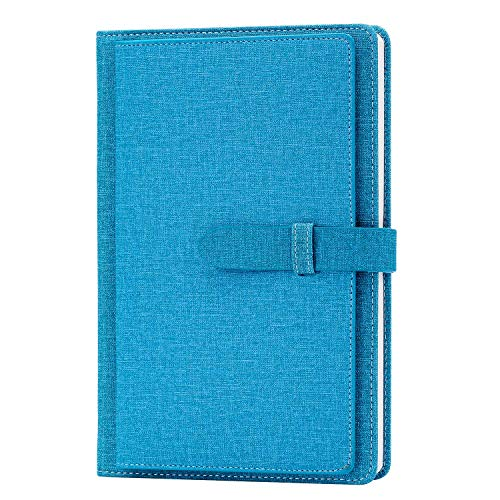 Cloth Cover Notebook, Re-sport A5 Premium Thick Paper Lined Notepad Hardcover Notebook Journal 100 Sheets/ 200 Pages with Inner Pocket, Page Dividers, Pen Holder, Cloth Buckle - Pen Page 100 Journal