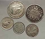 Group Lot Collection of 5 World AR Coins 1944 1945 1919 1871 1928 i53824