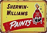 Guadalupe Ross Metal Tin Sign New Retro Sherwin Williams Paints Yellow Vintage for Wall Decor Metal Sign 12x8 Inches