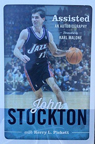 John Stockton Autographed Signed Assisted 1/1 Hardback Book JSA (Stockton Accent)
