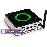 shinobee Lautlos Mini PC 10-Watt Office, 8GB RAM, 256GB SSD, Windows 10 Pro, HDMI, USB 3.0, MS Office 2010 Starter, unhörbar Leise, WLAN, Bluetooth, 3 Jahre Garantie! #6038
