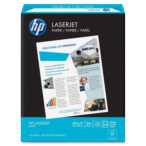Wholesale CASE of 20 - HP White LaserJet Paper-LaserJet Paper,24 lb.,8-1/2''x11'',98 GE/112 ISO,500/RM,WE by HEW