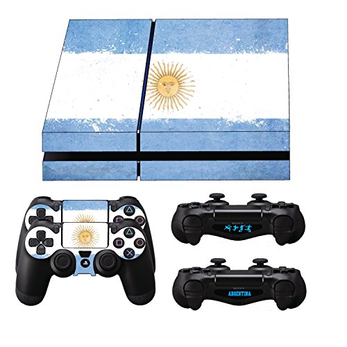 GamerGeekz PlayStation 4 Skin + 2 Ps4 Controller skins + Bonus PS4 Lightbar Decals Argentina