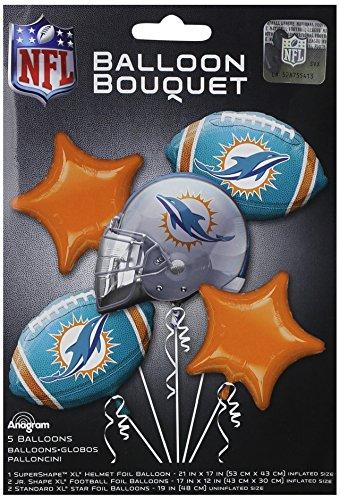 Anagram 31412 Miami Dolphins Balloon Bouquet, 5.5