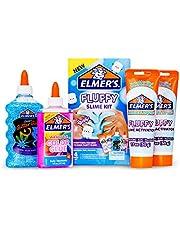 Elmer's Fluffy Slime Kit | Slime Supplies Include Elmer's Translucent Color Glue, Elmer's Glitter Glue, Elmer's Fluffy Slime Activator, 4 Count