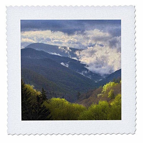 3dRose qs_93186_1 Oconaluftee, Great Smoky Mountains, North Carolina-US34 AJE0145-Adam Jones-Quilt Square, 10 by 10-Inch