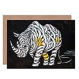 Rhino Graffiti Art Animal Greeting Card with Envelope Inside Premium Quality