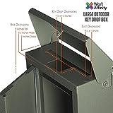 Outdoor Large Key Drop Box Galvanized Steel