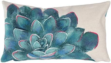 Liora Manne 4316 12 Cream Visions III Succulent Indoor Outdoor Pillow, 12 X20 , Ivory