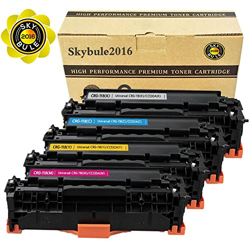 Compatible Toner Cartridge Replacement for Canon 118 HP 304A CC530A (2KCMY, 5-Pack), for use in Canon ImageCLASS MF726Cdw LBP7660Cdn MF8580CDW MF8380Cdw, HP Color Laserjet CP2025dn CM2320fxi