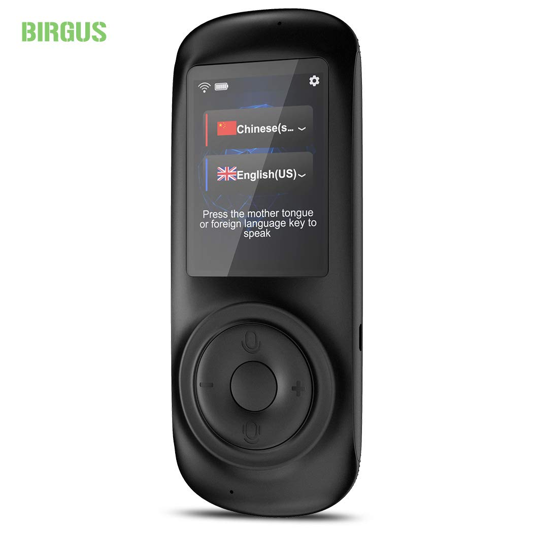 Birgus Voice Translator Device Smart Language Interpreters Device with 2.4inch Capacitive Touch Screen Support Multi- Languages Freely Translation Machine Business Shopping Interpreter