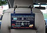 Package included: 2 x Thick Laminated Uber Lyft Rating Tips Appreciated Rideshare Signs 2 x Shiny Ribbon to hang on the headrest Your satisfaction is our guarantee: Thick and durable glossy plastic lamination Easy to remove and install Nice clea...