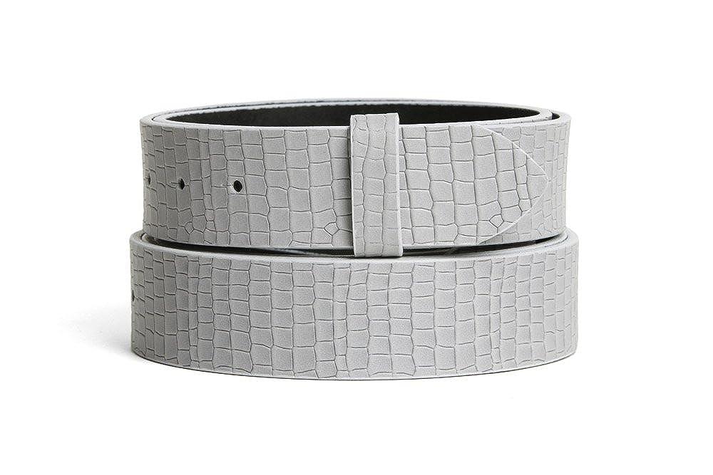 Vamoda Pelle Cintura Cintura di cambio SARATOGA grigi 4cm
