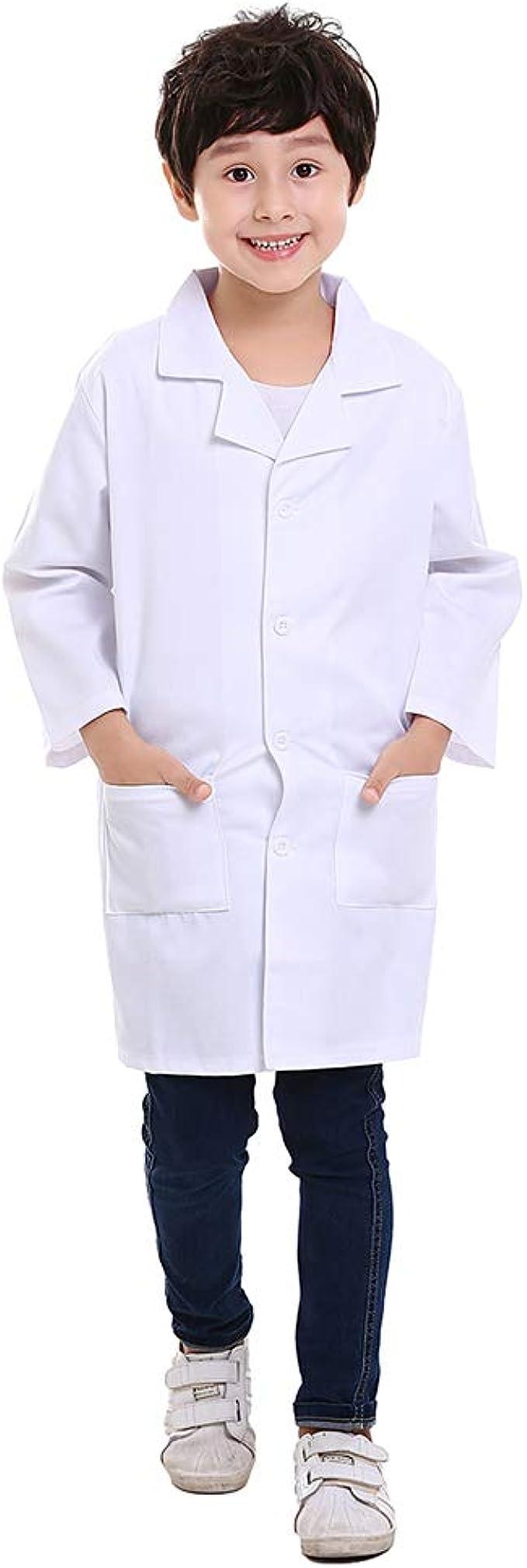 TopTie Bata de Laboratorio Blanca para Niño Disfraz de Juego de ...