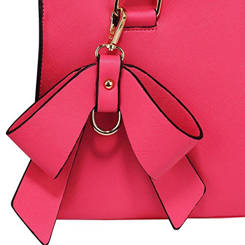 Xardi London - Borsa a tracolla donna Fuchsia Faux Leather