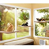 Window Cat Hammock Bed, Sunny Seat Window Mounted Hanging Cat Pet Bed Hammock