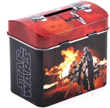 Star Wars Darth Vader /& Stormtroopers Money Savings Tin with Lock and Key