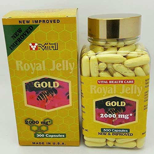 New Improved Vital Royal Jelly Gold 2000 mg 300 Softgels