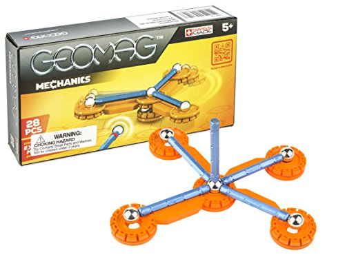 Geomag 28-Piece Mechanics Construction Set – Mentally Stimulating for Children and Adults – Safe and High Quality Construction – For Ages 5 and Up