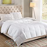 WhatsBedding 100% Cotton Down Comforter White Goose Duck Down And Feather Filling,Hypoallergenic. All Season Duvet Insert or Stand-Alone Comforter (Queen or Full)