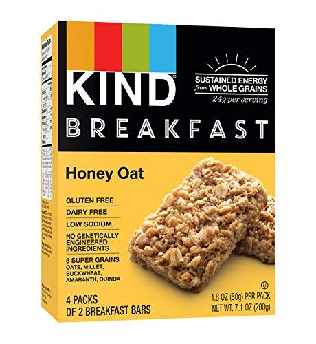 KIND Breakfast Bars, Honey Oat, Gluten Free, Non GMO, 1.8oz, 32 Count