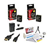 Opteka GoPro HD Hero3 3+ Accessory Kit with (2x) Extended 2000mAh Batteries, AC/DC Battery Charger, HDMI to Micro HDMI Cable and Cleaning Kit