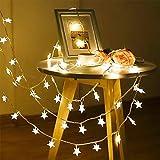 AVEDISTANTE Luces de la Estrella USB Carga Cuerda Luz Tira Decoraciones lluminación de Estrellas de para Bodas, Cumpleaños, Halloween, Navidad, Habitaciones para bebés, Interiores o Exteriores, Impermeable 6m, 40 led, Color Amarillo