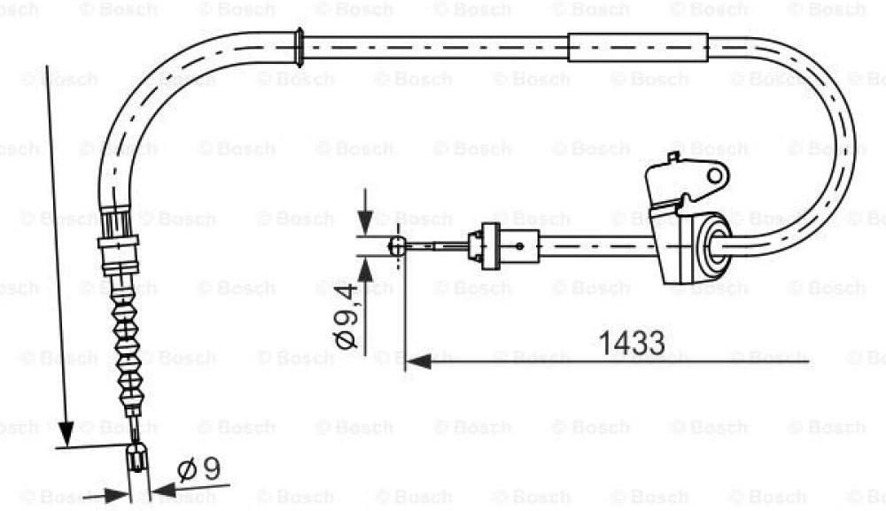 Bosch 1987482231 Bremsseil