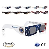 Solar Eclipse Glasses CE and ISO Certified 10 Pack by WEBSUN for Direct Sun Viewing Safety Eye Protection Glasses