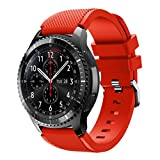 For Samsung Gear S3 Frontier New Fashion Sports Silicone Bracelet Strap Band,Outsta Watch Band Wrist Strap Watch Accessories Bracelet Best Gift 22mm (Red)