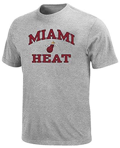 Miami Heat NBA Majestic Mens Heart And Soul Shirt Gray Big & Tall Sizes (XLT) (Heart Heat Miami)