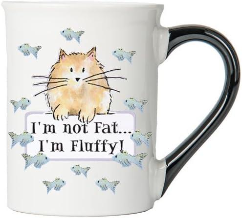 Tumbleweed 'I'm Not Fat, I'm Fluffy!' 20 0z. Pet Stoneware Ceramic Mug