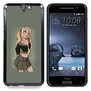 """For HTC One A9 Case , Rubio Cute Girl Sexy colegiala de la falda"""" - Diseño Patrón Teléfono Caso Cubierta Case Bumper Duro Protección Case Cover Funda"""