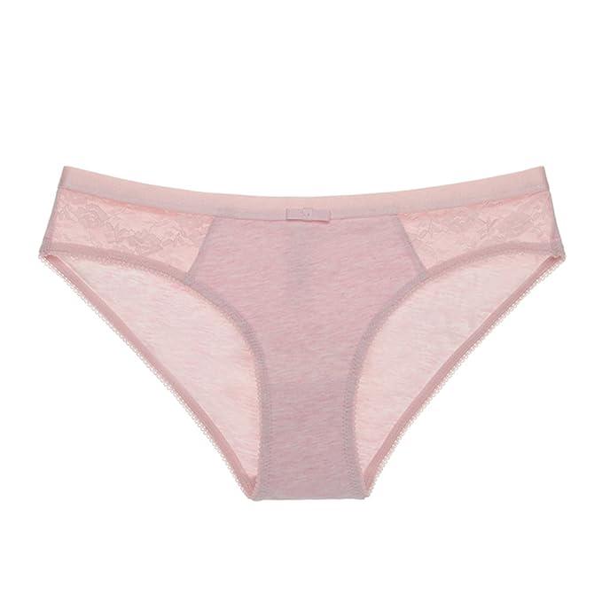 ropa interior de algodón atractivo de la señora/Sin fisuras de color sólido ropa interior de cintura baja transpirable/ Niñas triángulo de la ropa interior: ...