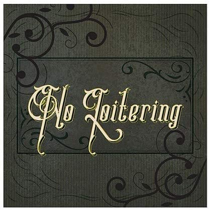 24x24 No Loitering 5-Pack CGSignLab Victorian Frame Clear Window Cling