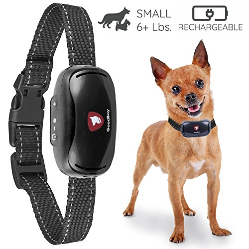 Small Rechargeable Dog Bark Collar For Tiny To Medium Dogs by GoodBoy Waterproof And Vibrating Anti Bark Training Device That Is Smallest & Most Safe On Amazon – No Shock No Spiky Prongs! ( 6+ lbs )