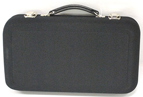 [Wingsmarketshop Black Leather Universal Oboe Case Reed Holder Case 3 x 8 x 14 in Made in the USA & Work Test NEW!] (Cufflinks Signed)