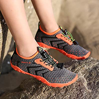 SAGUARO Zapatos de Agua para Ni/ños Secado R/ápido Antideslizante Nataci/ón Calzado